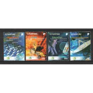 SINGAPORE 2006 25 YEAR OF INFOCOMM COMP. SET OF 4 STAMPS IN MINT MNH UNUSED CONDITION