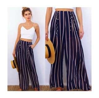 Crop top + wide leg pants