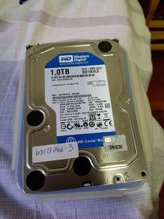 """WD1TB blue SATA 3.5"""" Hard Disk"""