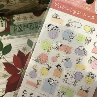 peanuts snoopy planner stickers