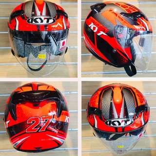 KYT VENOM ANDY GILANG WITH DOUBLE VISOR !!