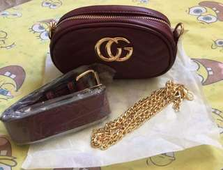 GUCCI CHAIN SLING / BELTBAG