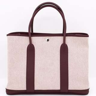 (NEW) HERMES GARDEN PARTY CANVAS 36 TOTE BAG PHW 全新 手袋 銀扣