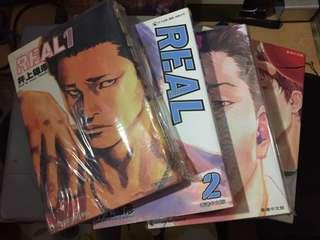 井上雄彥作品 勵志籃球 REAL 1-4期 (男兒當入樽作者) 天下漫畫 4本