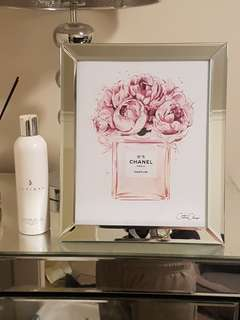 Chanel framed print