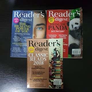 Reader's Digest 2018 - Left Only Feb And March