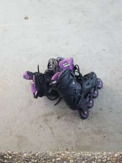Pair of female inline skates used only twice size 38