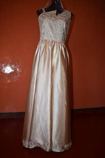 champagne long gown