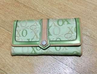 XOXO green wallet