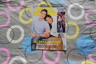 ALDUB: Inside Showbiz's first cover magazine together.