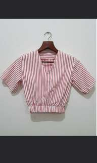 Gingham Stripes Top