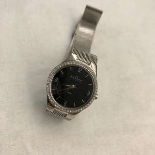 Skagen Black face Steel-Mesh watch
