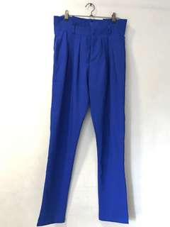 Royal Blue High Waist Slacks (Brand New Without Tag)