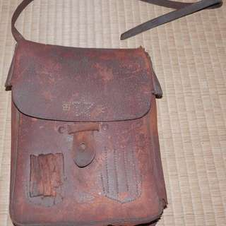 Vintage WW2 Imperial Japanese Army Officer's bag of Mr. Shibata