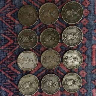 Old coins 1909-1945 coins (1887) Morgan dollar coin