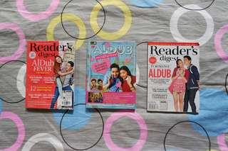 ALDUB Readers' Digest covers *with free aldub fever book*