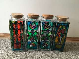 Stained glass -set of 4