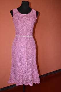 old rose formal dress