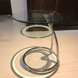 Lorenzo Tempered Glass Side Table