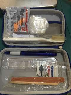 Travel kit from business class KLM