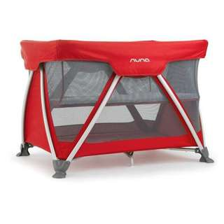 NUNA Sena Baby Cot/Travel Cot - Red