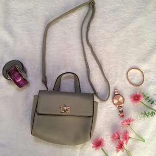 (REPRICED) Grey Mini Sling Bag
