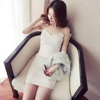 Sexy Korean halter neck knit dress