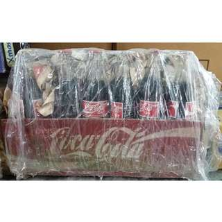 Wooden Coca Cola Crate with Coke Bottles
