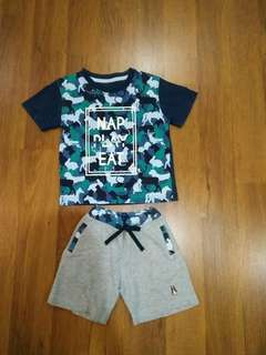 Authetic hush puppies boy Cloth/ boy set
