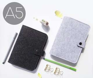 A5 felt fabric Simplistic Ring Binder Planner/Notebook/Diary