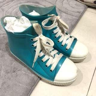 🚚 雨鞋 雨靴 tiffany綠 藍綠色