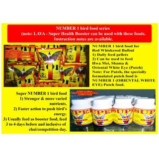 Basic Essentials - NUMBER 1 DEWORM NUMBER 1 (RWBB) BIRD FOOD SUPER NUMBER 1 (RWBB) BIRD FOOD