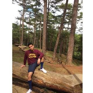 H&M Divided Cheerleader Maroon Pullover Sweatshirt