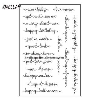 🌸 Common words celebration Merry Christmas Happy Birthday Good Luck Silicon Clear Stamp