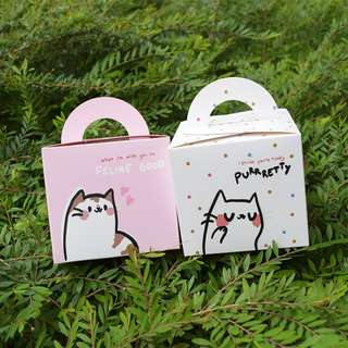 Cat Pun Fancy Paper Gift Box