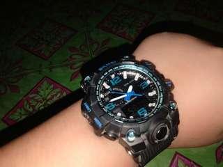 Skmei Blue,Black Watch And Green Light