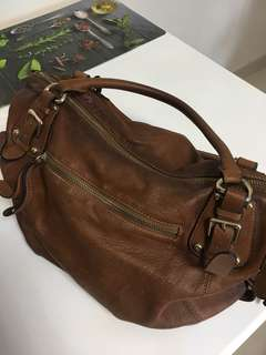 Brown Genuine Leather Crossbody Bag