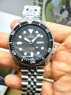 * FREE DELIVERY * Made In Japan Brand New 100% Authentic Seiko Automatic Mens Diver Watch on Jubilee Bracelet SKX007 SKX007J