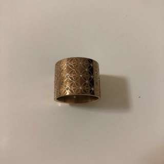 Michael kors玫瑰金鑲鑽戒指-MK醫療鋼