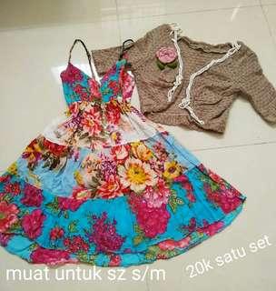 Mini dress + cardigan