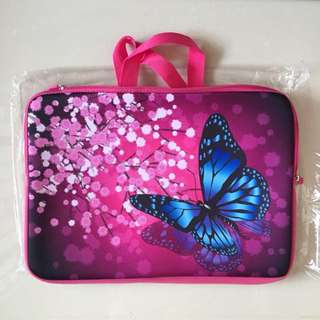 BN 🍀 Ready Stock 🍀 Muti Function Laptop Sleeve + Bag - Butterfly