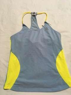 Adidas top with bra pad