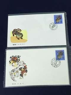 China Stamp- 1986 T107 A/B FDC