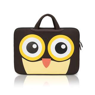 BN ☘️Ready ☘️ Laptop Bag (with handle) - Owl 15.6