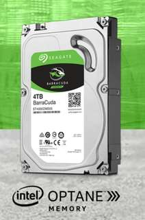 "3.5"" Computer Hard Disk Drive HDD, Seagate Barracuda, 4TB, Brand New,"
