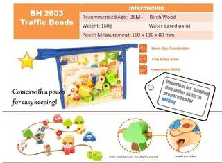 Baby Toys Wooden Traffic Beads *(NEW)*
