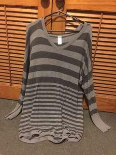 Sweatshirt, Grey Striped
