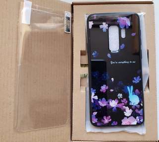 Samsung s9+ 櫻花兔款保護殼連mon貼