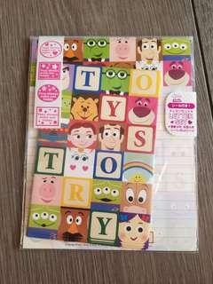 日本牌 Toys Story 信封信紙套裝 日本制 Disney /Pixar
