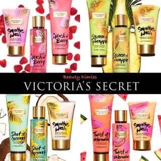Limited Edition! Victoria's Secret Juiced Fragrance Smoothie Wash & Lotion